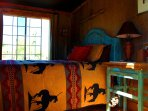 All  four 'western' bunk houses are uniquely decorated.  Ideal for guests who want more privacy.