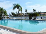cool off at the large pool along the intracoastal