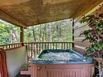You'll love soaking in the private hot tub with your loved one.