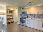 Prepare meals in the newly renovated kitchen, fully equipped with high end appliances and granite counters.