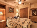 Those sharing this room will sleep well in a plush queen bed.