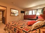 Fall asleep to a movie on the flat-screen Satellite TV in the spacious king-sized bed.