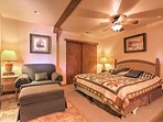 Cozy up in this bedroom that features pull drapes and enough room for young children to share the room with their...