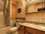 The home is equipped with 4 full bathrooms and 1 half bath.