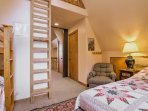 Kids will love climbing up the ladder to the loft, where you'll find more beds.