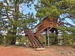 Kids will love playing in the tree house!