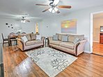 The well-appointed property features all the comforts and amenities of home.