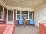 Sit on the front porch and relax as you enjoy fresh air.