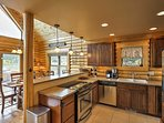 Fry up your best catch from the day's fishing expedition in this fully equipped kitchen.
