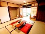 Tatami mat room.