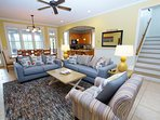 Large Open Living Area with LCD TV and DVD