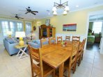 Large Dining Table Seats Eight