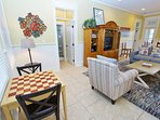 Game Table in Living Room