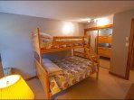 2nd Bedroom with Double/Single Bunk  Bed Along with a Second TV