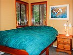 Comfy Queen Bed in the Master Bedroom With Ample Closet and Storage Space