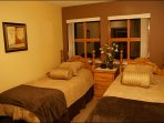 Charming 2nd Bedroom with 2 Twin Beds