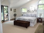 Master bedroom with king bed and balcony!