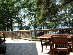 The large front deck has great seating and a gas grill