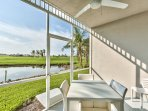 Private Screened in Lanai with Dining and Seating; Lake and Golf Views! 2 Championship Golf Course in the Back Yard!