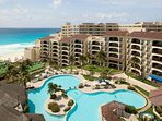 Emporio Hotel And Suites Cancun Exterior Areial View