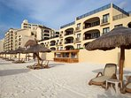 Emporio Hotel And Suites Cancun Beach Bar With Building View
