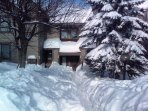 Ski-in and ski-out condominium.  Walk from the parking lot to the private front entry all level.