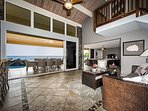 Large sliding doors allow ocean breezes into the Home