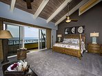 Spacious air conditioned Master bedroom with private balcony!