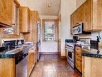 Even from the kitchen, you'll receive lots of natural light.
