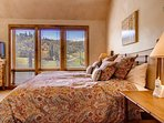 Wake up and see all that fresh snow from the night before in Master Bedroom #1.