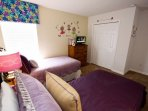 Upstairs Twin Room #2 w/Two Twin Beds & Flat Screen TV w/Cable - View #2