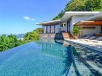 Crystal clear infinity pool at Casa Puros Dieces