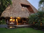 Secluded rancho with daybed and private sleeping suite above