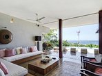Indoor and outdoor areas blend at Casa Puros Dieces, creating th