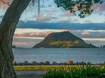View of Mt Maunganui from Furgusson Park, 10 mins walk from property