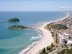 View from the top of Mt Maunganui.