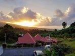 Vue coucher du soleil du Refuge