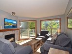 Natural light living room