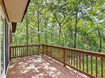Enjoy beautiful woodland views from the main floor balcony.