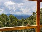 Long range views toward Asheville.