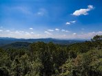 Beautiful view from the back deck toward Asheville.
