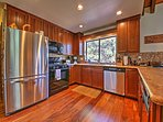 Prepare delectable meals in the fully equipped kitchen.