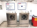 Large free washing and drying facilities