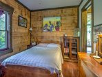 Enjoy peaceful slumbers in second bedroom which provides a cozy full-sized bed.