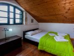 house1, top bedroom loft with double bed