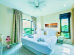 Bedroom with nature view