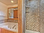 Master Bath with Two Sinks, Jetted Tub and Separate Tile Shower
