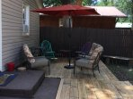 Back deck for relaxing/entertaining