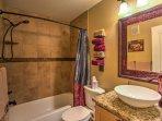 The condo includes 2 full bathrooms.