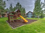 Spread out and enjoy sunny days in the community playground and picnic area.
